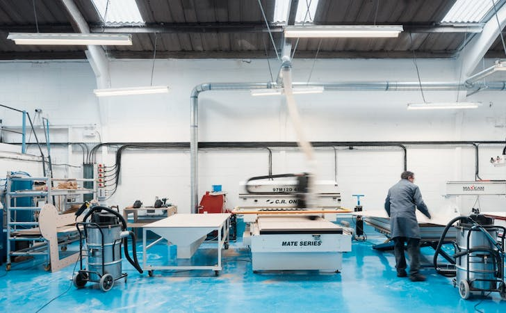 A fabrication studio or 'maker space'. Images courtesy Opendesk.