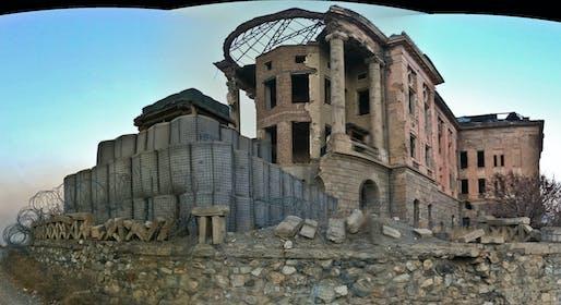 The ruins of Tajbeg Palace. Image courtesy Wikimedia Commons user Peretz Partensky.