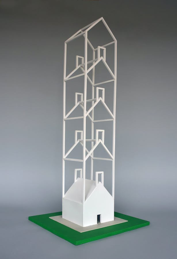 House Tower, 13 inches W 13 inches L 31 inches H.