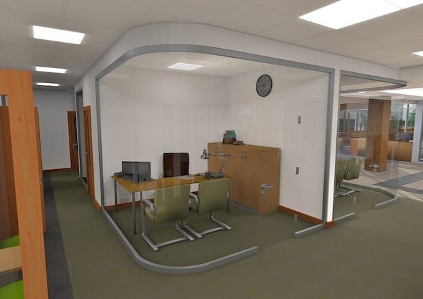 New corner office