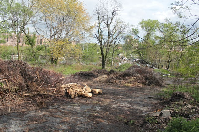 EDGEucation Pavilion: Former Boat Club Site in Sherman Creek Park (Photo: DeShaun Wright, NYRP)