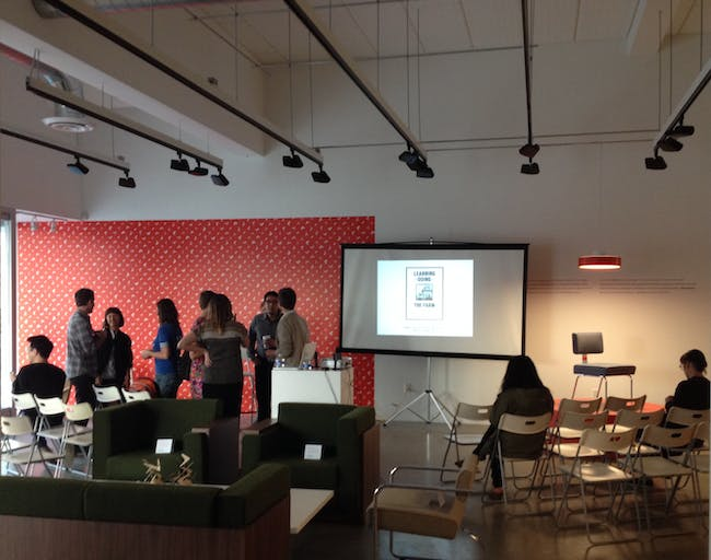 'Learning by Doing at the Farm' book release event at A+D Museum. Photo credit: Amelia Taylor-Hochberg.