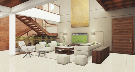3D Visualization of an Interior Project
