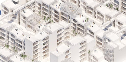 Image of a student project produced by Alexandros Prince-Wright and Yoonwon Kang for GSAPP's Housing Studio. Image courtesy of GSAPP.