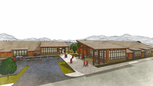 Santiam Canyon 2019 Bond Proposal - Junior & Senior HS, Soderstrom Architects, 2019 via Emily Estes