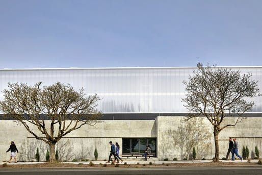 View of the North Transfer Station in Seattle, designed by Mahlum Architects. Image courtesy of Benjamin Benschneider.