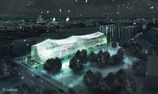 Helsinki Central Library competition entry by PAR. Rendering: Labtop.