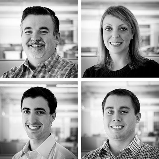 clockwise: Richard Falconer, Rochelle Spahn, Brian Fullen, and Jacob Gulezian