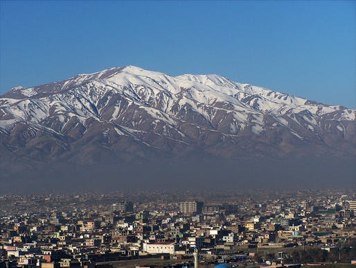 Snow-capped mountains towering over Kabul—at an estimated 5.266 million inhabitants, now the world's 75th largest city. Photo: Joe Burger/Wikipedia
