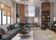 Mẫu thiết kế nội thất đẹp cho biệt thự phố 3 tầng hiện đại