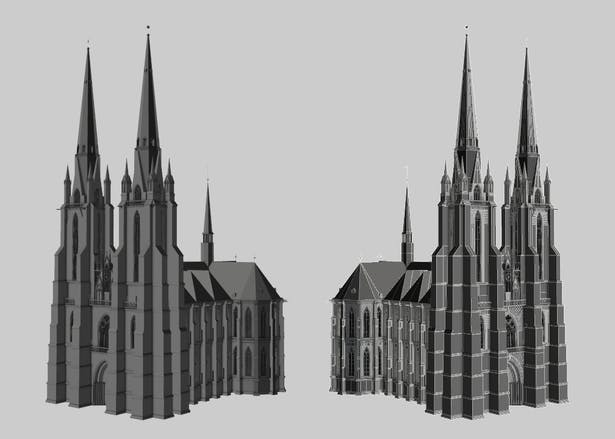 Marburg Cathedral Full View