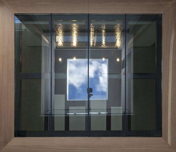 skylight / void / glass floor / reflection pool