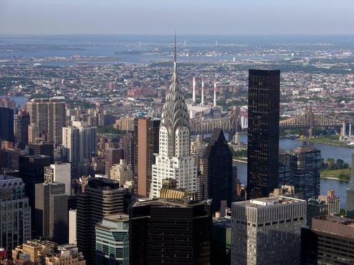 View of the Chrysler Building from the Empire State Building, its former rival. Photo: William R. Weiss.