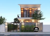 Thiết kế biệt thự hiện đại đẹp 2 tầng tại Quảng Nam
