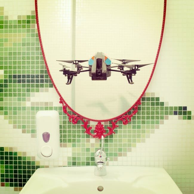One of IOCOSE's 'Drone Selfies' (Director of photography: Matteo Cattaruzzi)