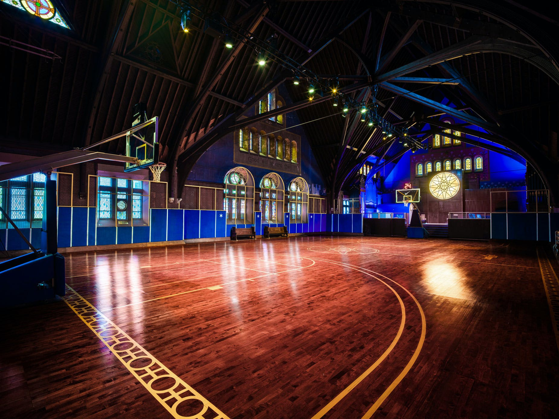 f77438555f Nike transforms historic Chicago church into basketball court for ...