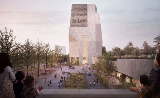 Changes to the TWBTA design for the Obama Presidential Center include the addition of more openings and glass to the complex's 235-foot tower. Images courtesy of Obama Foundation.