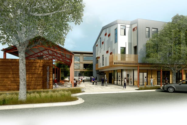 Cottonwood & Ida - Plaza Entry Rendering