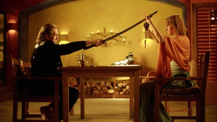 Bill and the Bride, Kill Bill. Image via nunucachoo.wordpress.com.