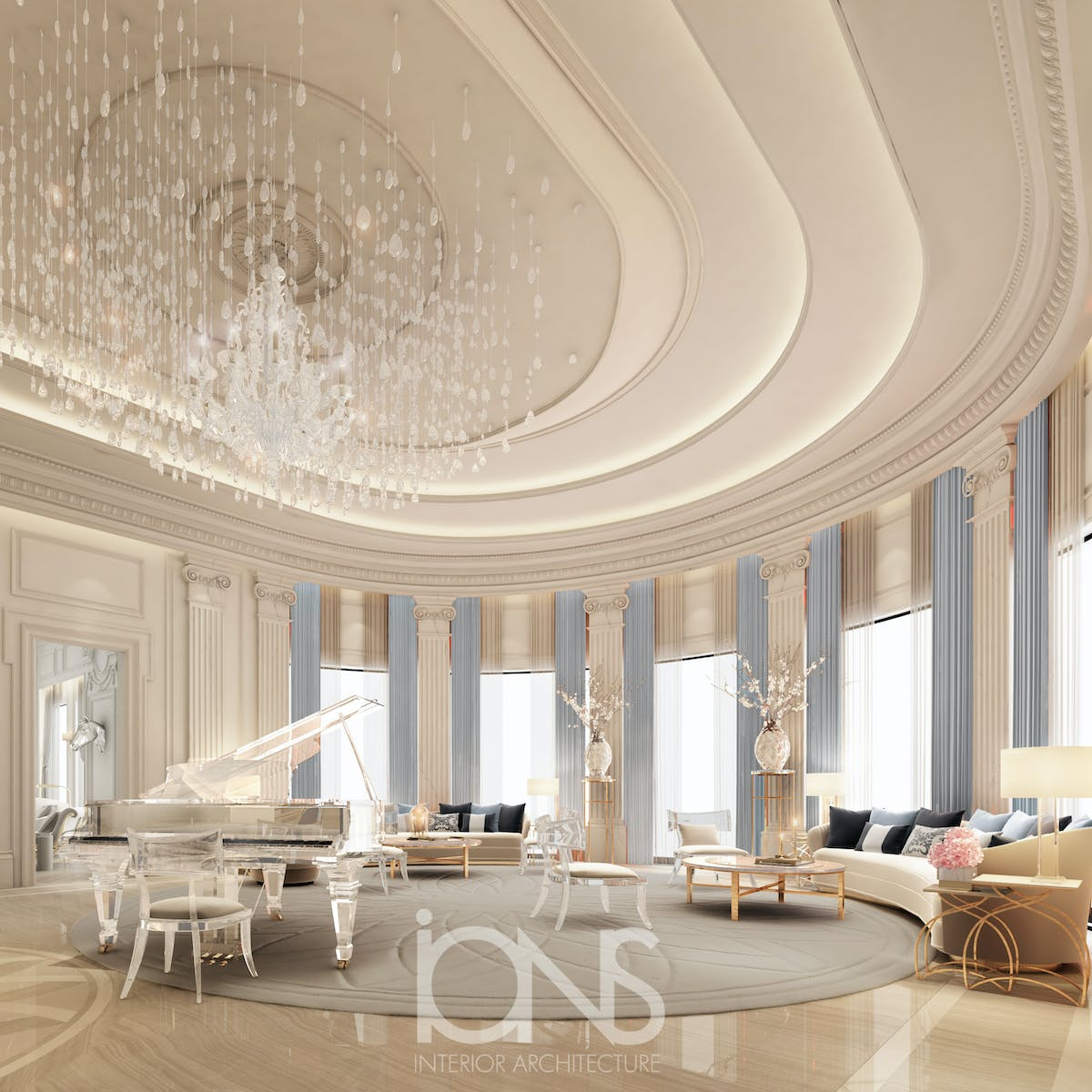 Ions Interior Design Dubai grand piano room design | ions design | archinect