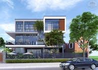 Mẫu thiết kế biệt thự hiện đại 3 tầng kết hợp kinh doanh cafe
