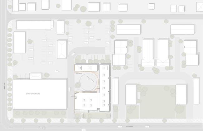 Site plan. Image courtesy of Brooks + Scarpa.