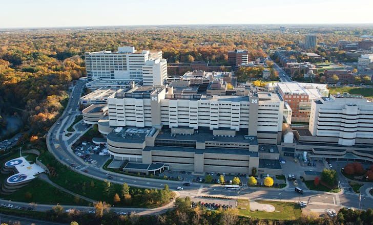 University of Michigan Medical Center. Image courtesy of the University of Michigan.