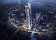323-meter landmark reflects steep mountains in Changsha