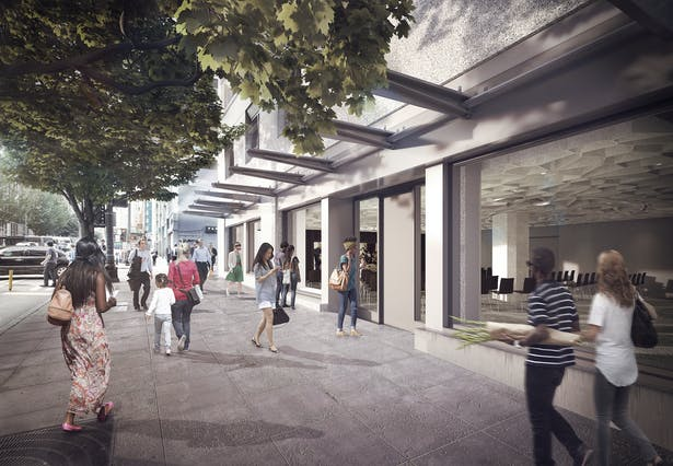 Architectural rendering of the exterior of Octave 9 on the corner of Second Avenue and Union Street.
