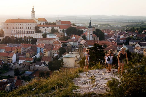 A view of the Mikulov Castle from Svaty Kopecek, or Holy Hill by Gordon Walters