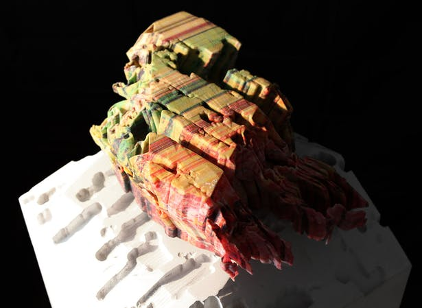 Color striation study model