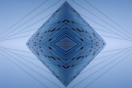 The Blue Diamond, by Aaron Yassin, 27' x 40', C-print, mounted to aluminum and reverse-mounted to plexiglass, 2012
