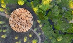 Francis Kéré fashions arts pavilion from pine logs
