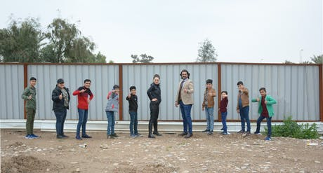 """Site visit... Iraqi Home Foundation for Creativity with Husham Al- Thahabi and the Sons of Husham Al-Thahabi in Baghdad, Iraq. Raya Ani has been working on the Design of the Iraqi Home Foundation for Creativity with RAW-NYC Architects. The Project Trailer will be released soon.. 'Husham Al-Thahabi was one of the five winners of the """"Hope Makers"""" award given by his Highness Sheikh Mohammed bin Rashid Al Maktoum. Husham Al Thahabi had established the Iraqi House of Creativity to shelter..."""