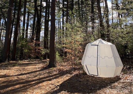 Harvard's inflatable structure inspired by geometry. Image: Benjamin Gorissen/David Melancon/Harvard SEAS