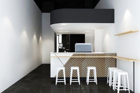 cafe cabinet / render