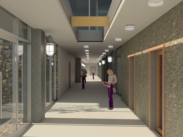 Main hallway - West