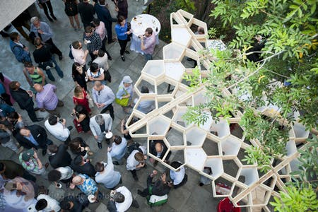 """Penta"" pavilion for Eric Nulman's second year 202b studio. Image courtesy of USC Architecture."