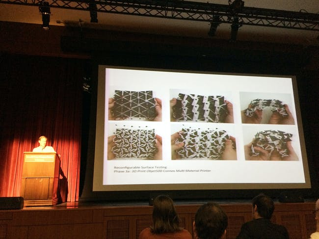 From Brad Bell's presentation, 'Casting Non-Repetitive Geometries with Digitally Reconfigurable Surfaces'. Photo credit: Anthony Morey.