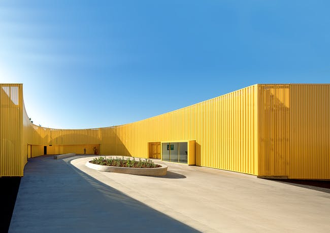 Animo South Los Angeles High School's newest building designed by Brooks + Scarpa. Photo: Tara Wujcik.