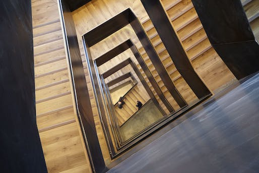 """22 Gordon Street at the HQ of the UCL Bartlett School of Architecture. Photo © Jack Hobhouse. More details about this building can be found <a href=""""https://archinect.com/news/article/149983096/step-inside-the-bartlett-s-new-central-london-hq-designed-by-hawkins-brown"""">here</a>"""
