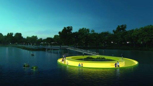 A rendering of FloatLab. Image: Höweler + Yoon Architecture
