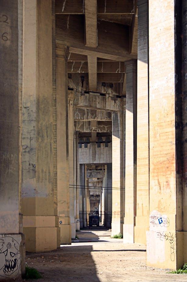 original photo: underneath the 6th Street Bridge