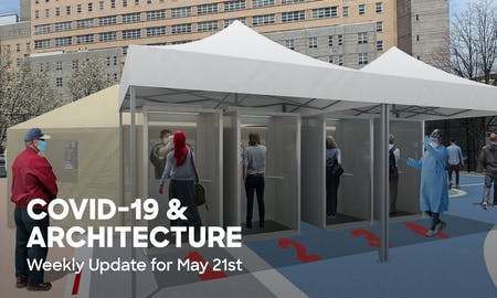 Proposed screening booth setup at playground/basketball courts by SITU. Image via situ.nyc