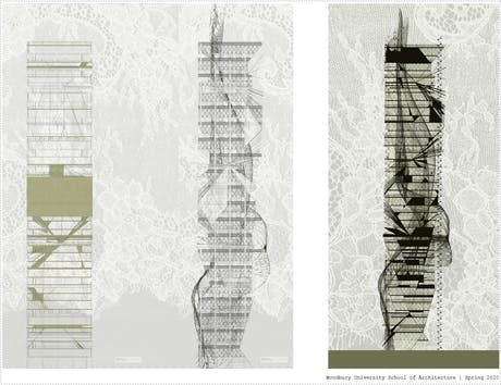 Thesis Lace Skyscraper 'Allegorical Blooms'