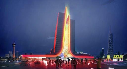 Atari® Hotel. Image courtesy of Gensler/GSD Group
