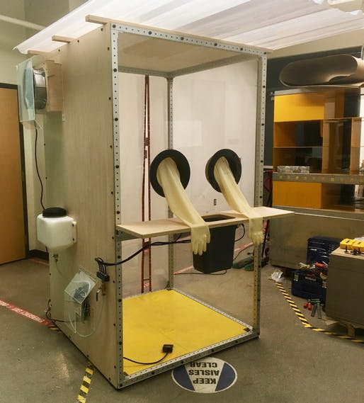 The BOOTH prototype by Penn State researchers is designed to allow health care employees working at drive-thru COVID-19 testing sites to safely collect samples from patients who may be infected with the coronavirus.