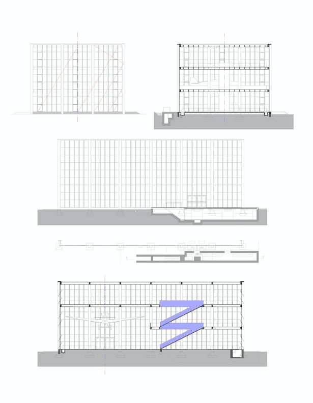 Section, view TRANSAT architekti