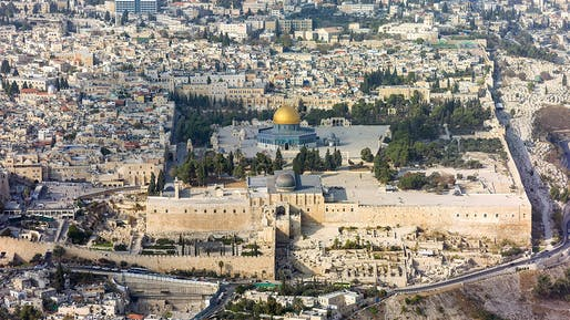Aerial view of the Temple Mount in Jerusalem. Photo: Andrew Shiva / Wikipedia / CC BY-SA 4.0