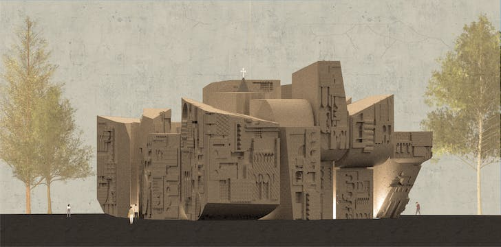 'Through Thick and Thin' - these project by Maneh Tahmasian (Woodbury M.Arch '21). Advisted by Ryan Tyler Martinez. Image courtesy of Maneh Tahmasian
